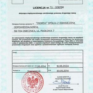 Osgrew certyfikat